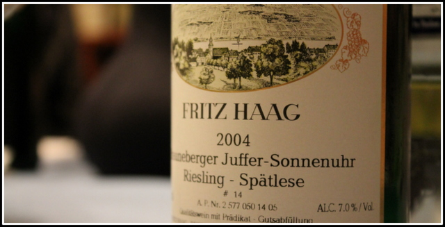 2004 Fritz Haag, Brauneberger Juffer Sonnenuhr, Riesling, Spätlese