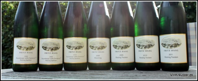 For nørden kan det være sjovt at sammenligne samme vin i flere årgange, eller flere forskellige vine fra den samme vinbonde.