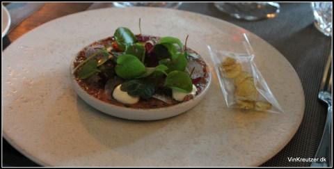 Tatar - velrørt med små chips i posen
