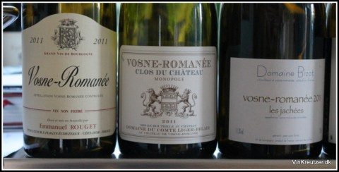 De 3 bedste vine denne dag: Rouget, Liger-Belair og Bizot