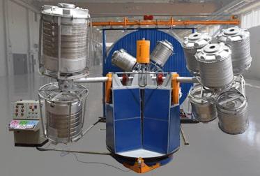 Three Arm Bi-Axial Machines Fixed Turret