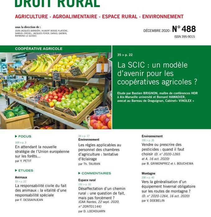 La SCIC : un modèle d'avenir pour les coopératives agricoles 2
