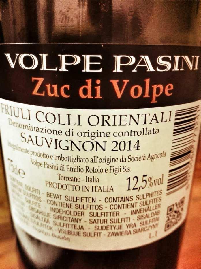 Etichetta Volpe Pasini Zuc di Volpe Sauvignon