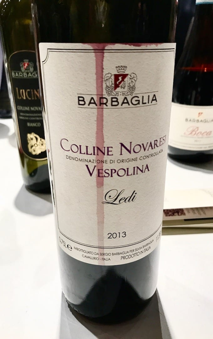 Sergio Barbaglia Vespolina 2013 a Vinoè 2016