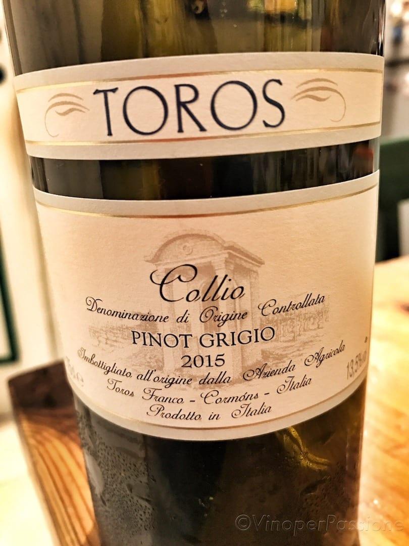 Toros Pinot Grigio 2015