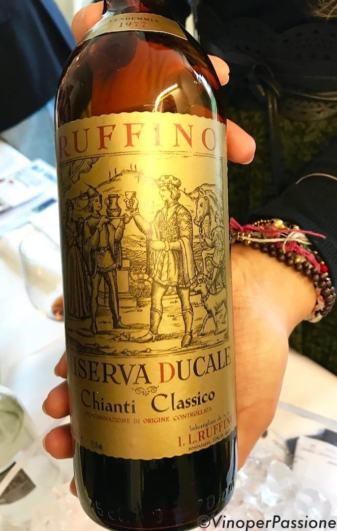 Ruffino Ducale Oro 1977 a Terre di Toscana 2017