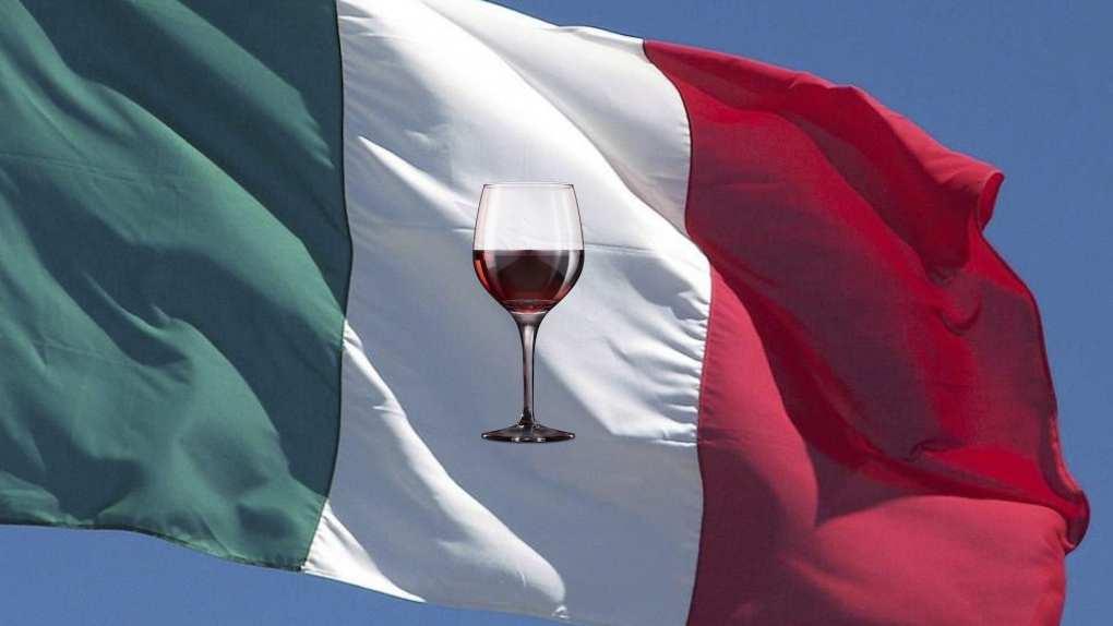 bandiera del vino italiano