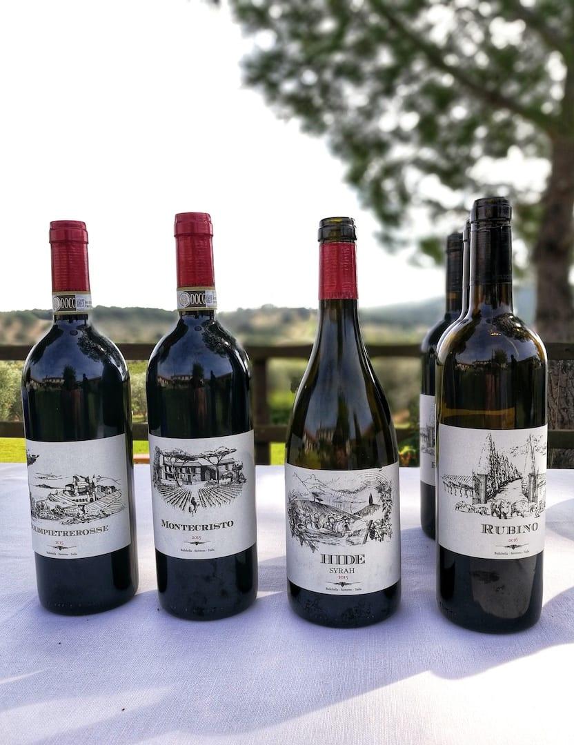 Il Montecristo 2015 e gli altri vini di Bulichella