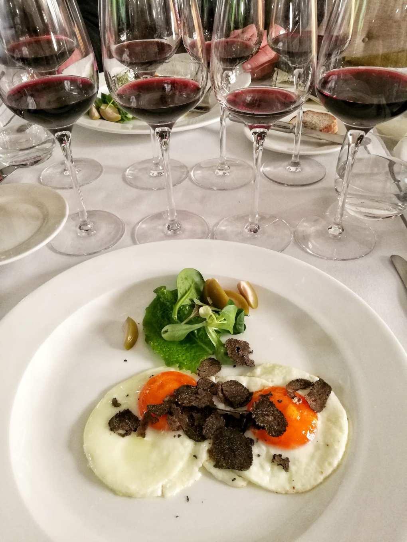 Uova al tartufo Savini e Bolgheri di Fornacelle