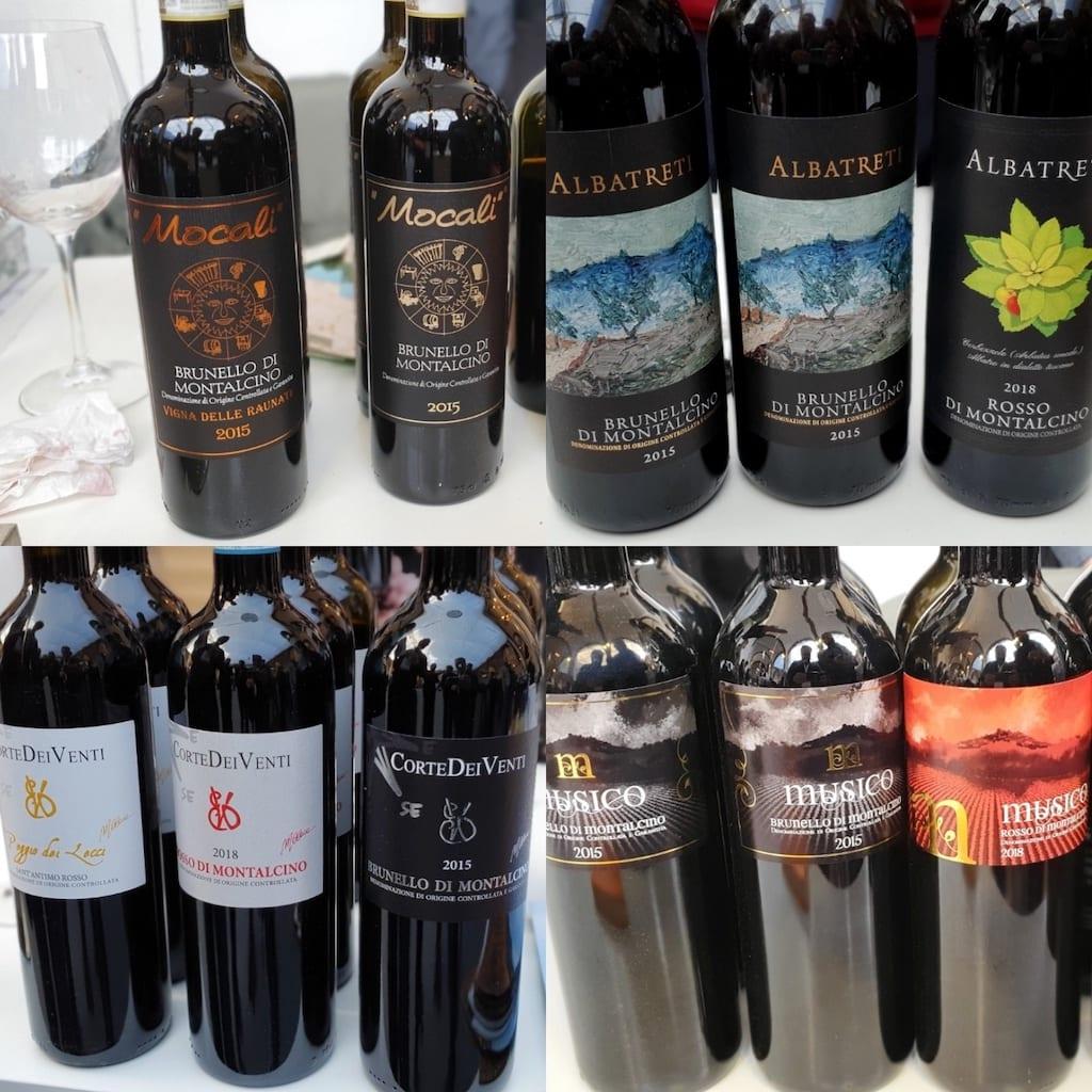 Alcuni tra i migliori assaggi fatti a Montalcino per l'annata 2015 del Brunello