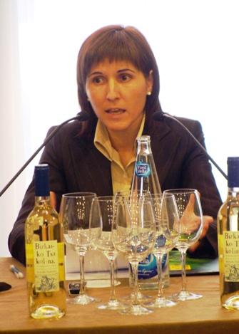 Elena Unzueta, presidenta del Consejo Regulador de la D.O. Bizkaiko Txakolina