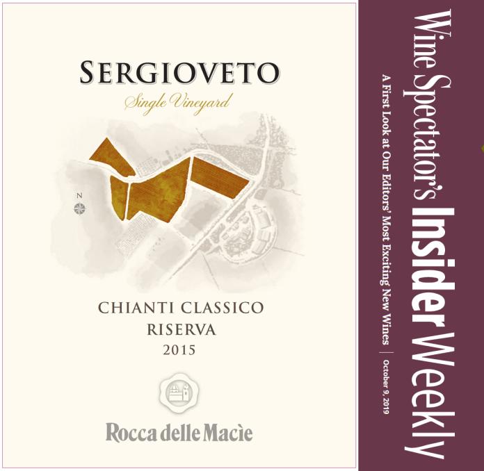 Chianti Classico Riserva Sergioveto 2015 su Wine Spectator