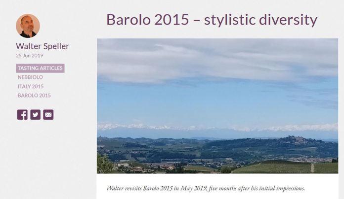 Barolo 2015 Walter Speller
