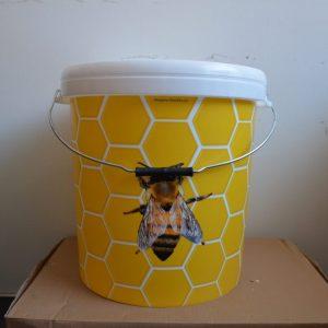 Nádoba na med plastová so vzorom