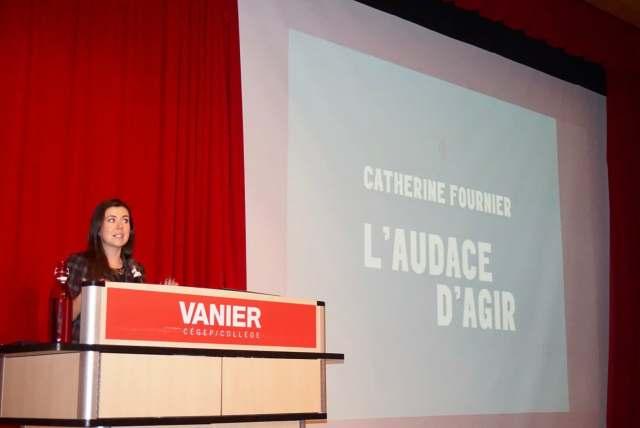 PQ MNA Catherine Fournier Tells Vanier Students to Engage and Change