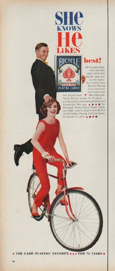 1960 Bicycle Playing Cards Vintage Ad Quot She Knows Quot