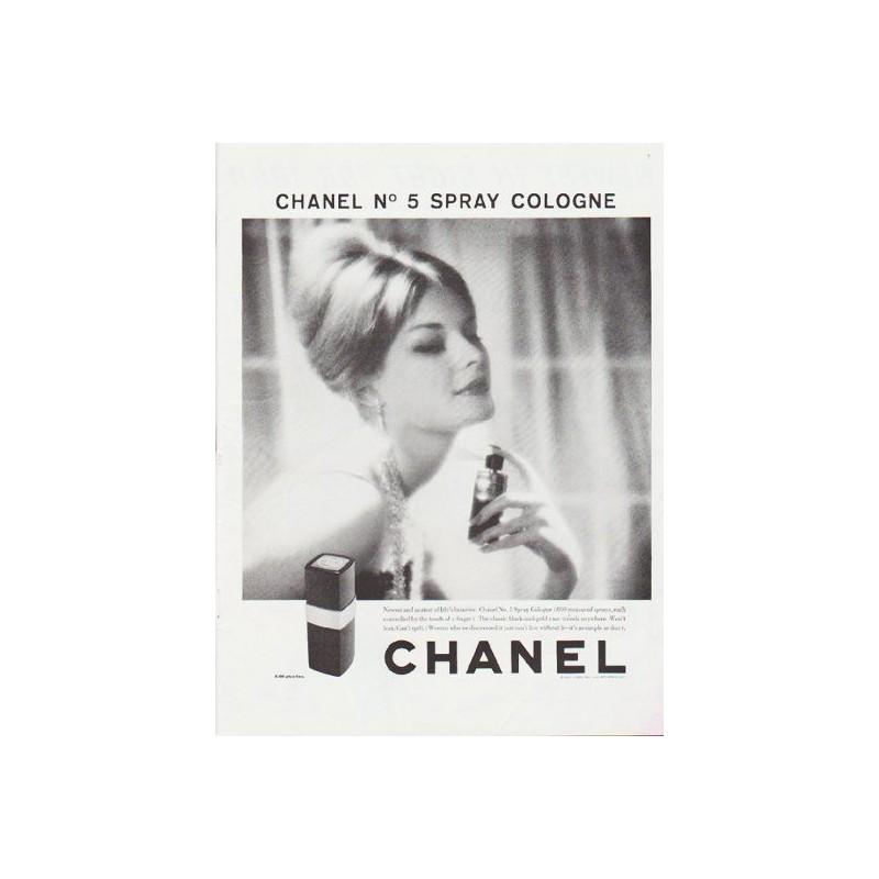 1959 Chanel Perfume Vintage Ad Chanel No 5 Spray Cologne
