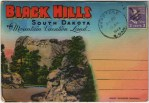 Vintage Travel Postcard of The Black Hills in South Dakota