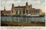 Vintage Postcard showing a 1900s View of Ellis Island