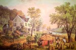 Currier and Ives Lithograph – The Farmer's Home Harvest