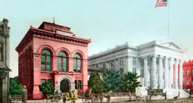Vintage California postcard of the Hall Of Records in Sacramento