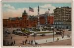 Lafayette Square Vintage Buffalo NY Postcard