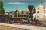 Vintage Lake Tahoe Postcard of the Locomotive Glenbrook