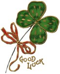 Luck of the Irish Shamrock Vintage Postcard