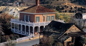 The Mackay House in Virginia City Postcard