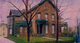Vintage Postcard of The Milburn Residence in Buffalo, NY
