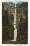 Vintage Postcard of Multnomah Falls in Oregon