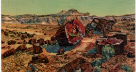 Vintage Arizona Postcard of the Petrified Forest
