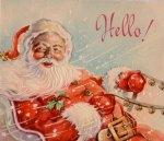 Santa's Sleigh Ride Postcard