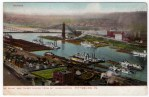Pittsburgh Vintage Postcard – Point Park in 1800s
