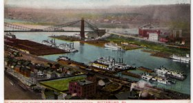 Vintage 1800s Postcard of the Pittsburgh Park called The Point