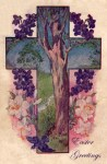Easter Vintage Postcard – The Tree of Life
