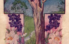 Easter Vintage Postcard - The Tree of Life