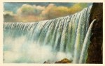 View of Niagara Falls from the Maid of the Mist Vintage Postcard