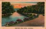 Chetek River Vintage Wisconsin Postcard