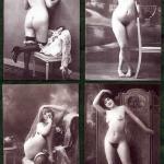 Four sexy vintage nudes