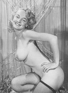 Vintage nude blonde