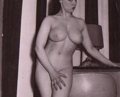 Coy brunette nude