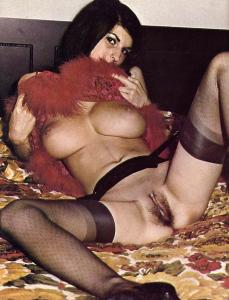 Vintage Model with Big Breasts