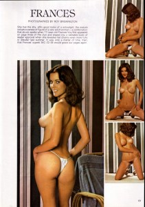 Frances Voy in Mayfair's June 1979 issues (she was 19 by now)
