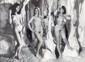 Three Naked Cave Girls