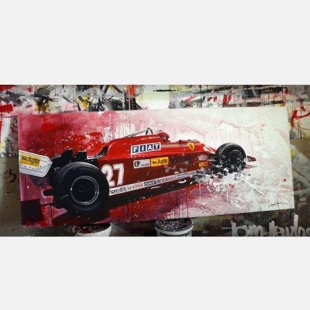 Giles Villeneuve ferrari F1 schilderij kunst art