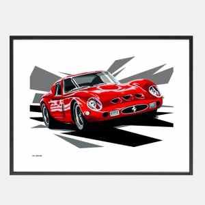Joel-Ferrari_250_GTO_art-schilderij_kunst