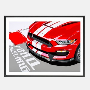 Joel-Mustang_Shelby_art-schilderij_kunst