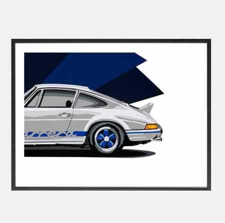 Joel-Porsche_911_RSR_art-schilderij_kunst