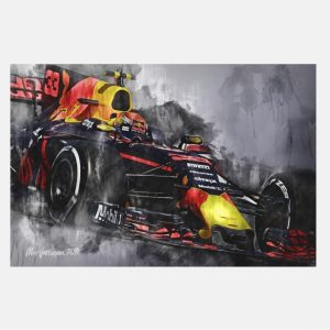 Max-Verstappen-001-formula-1-wall-art-canvas-RB13